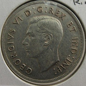 fifty cents Canada 1938