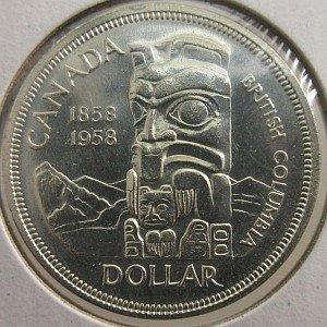1958 $1 Silver Canada