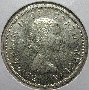 1959 silver $1 Canada