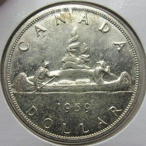 1959 Canadian Silver Dollar
