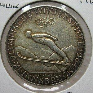 1964 austria 50 schilling silver