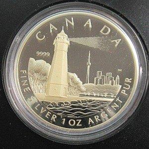 Toronto Island Lighthouse $20 RCM coin