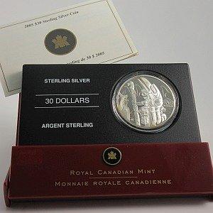 Canada $30 totem Pole Coin
