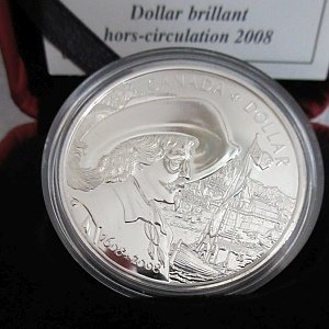 2008 Silver Dollar 400th Anniversary of Quebec Canada
