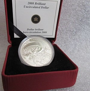 2008 Canadian Silver Dollar