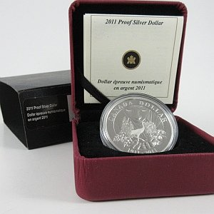 2011 Proof Silver Dollar Canada