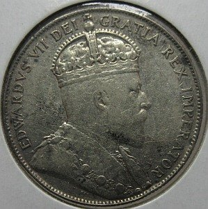 NFLD 1908 50 cent silver