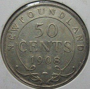1908 Newfoundland 50 Cents
