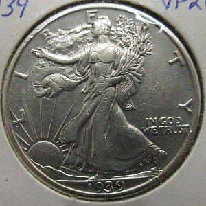 1939 Walking Liberty 50 Sents